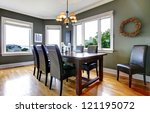 large green dining room with... | Shutterstock . vector #121195072