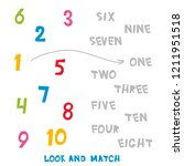look and match the numbers 1 to ... | Shutterstock . vector #1211951518
