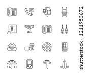 collection of 16 retro outline... | Shutterstock .eps vector #1211953672