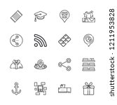 collection of 16 square outline ...   Shutterstock .eps vector #1211953828