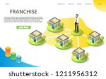 franchise business landing page ... | Shutterstock .eps vector #1211956312