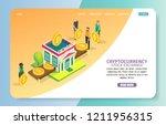cryptocurrency stock exchange... | Shutterstock .eps vector #1211956315