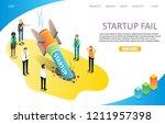 startup fail landing page... | Shutterstock .eps vector #1211957398