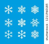 snowflake winter set of blue... | Shutterstock .eps vector #1211960185