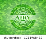 airy green emblem with mosaic...   Shutterstock .eps vector #1211968432