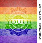 youth emblem on mosaic...   Shutterstock .eps vector #1211968525