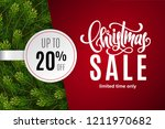 christmas holiday sale 20  off... | Shutterstock .eps vector #1211970682