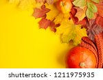 autumn background of free space ... | Shutterstock . vector #1211975935