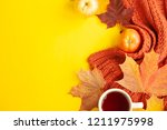 autumn background of free space ... | Shutterstock . vector #1211975998