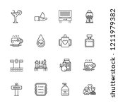 collection of 16 drink outline... | Shutterstock .eps vector #1211979382