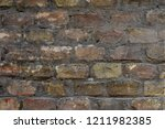 old brick wall close up | Shutterstock . vector #1211982385