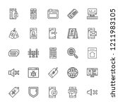 collection of 25 site outline...