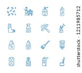 collection of 16 spray outline... | Shutterstock .eps vector #1211985712