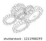 3d gears. vector rendering of... | Shutterstock .eps vector #1211988295