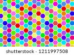 honeycomb many color ... | Shutterstock . vector #1211997508