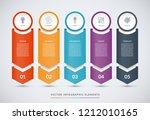 vector infographic design... | Shutterstock .eps vector #1212010165