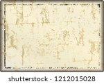 grunge blank metal sign or... | Shutterstock .eps vector #1212015028