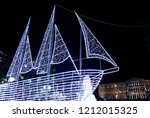 A Christmas Boat Stands At...