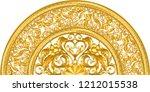 golden ornamental half segment... | Shutterstock .eps vector #1212015538