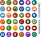 color back flat icon set  ... | Shutterstock .eps vector #1212020482