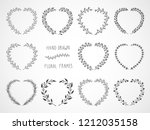 vector set of floral hand drawn ...   Shutterstock .eps vector #1212035158