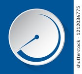 pressure gauge  dial  barometer ... | Shutterstock .eps vector #1212036775
