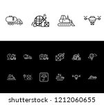 logistics icon set and... | Shutterstock .eps vector #1212060655