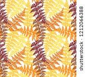 fern frond herbs  tropical... | Shutterstock .eps vector #1212066388