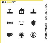 mixed icons set with download ...