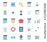 web and seo isolated vector... | Shutterstock .eps vector #1212083368