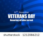 happy veterans day 11th of... | Shutterstock .eps vector #1212086212