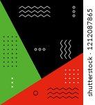 memphis poster 80's 90's styles.... | Shutterstock .eps vector #1212087865