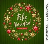 feliz navidad   christmas... | Shutterstock .eps vector #1212098902