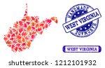 handmade craft composition of...   Shutterstock .eps vector #1212101932