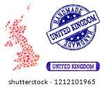 handmade craft combination of... | Shutterstock .eps vector #1212101965