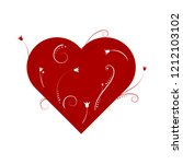 abstract red heart   vector... | Shutterstock .eps vector #1212103102