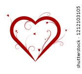 abstract red heart   vector... | Shutterstock .eps vector #1212103105