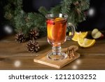 mulled cider with added spices... | Shutterstock . vector #1212103252