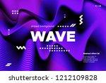 movement of waves concept. 3d...   Shutterstock .eps vector #1212109828