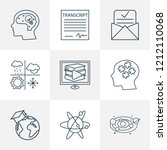 education icons line style set... | Shutterstock .eps vector #1212110068