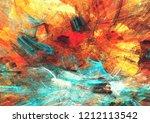 bright artistic splashes....   Shutterstock . vector #1212113542