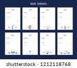 modern recipe card template set ... | Shutterstock .eps vector #1212118768