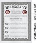 grey retro warranty template.... | Shutterstock .eps vector #1212121435