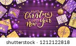 merry christmas and happy new... | Shutterstock .eps vector #1212122818