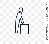 old man walking vector outline...   Shutterstock .eps vector #1212125515
