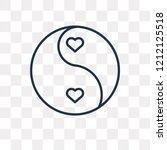 yin yang vector outline icon... | Shutterstock .eps vector #1212125518