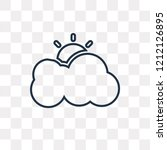 cloudy vector outline icon... | Shutterstock .eps vector #1212126895