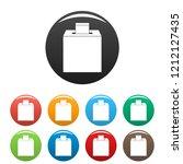 election box icons set 9 color...