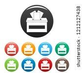 ballot box icons set 9 color...