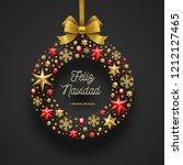 feliz navidad   christmas... | Shutterstock .eps vector #1212127465